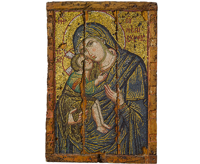 Mosaic Icon with the Virgin and Child, about A.D. 1275–1300
