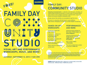 ACT Faculty and Alumna workshops at the Hammer Museum's Family Day