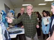 Designer Bob Mackie and students