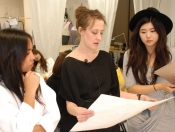 Morgane Le Fay stylist Amanda Mikko with students