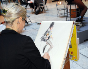 Model Draw at the California Market Center