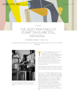 LAS Faculty Marlena Donohue Reviews Stuart Davis