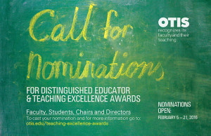 Call for Nominations for the 2016 Teaching Excellence Awards
