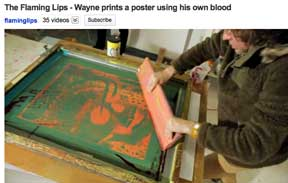 Just in time for Halloween…printing with blood