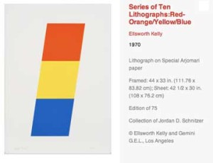 Ellsworth Kelly at LACMA until 4.22.2012