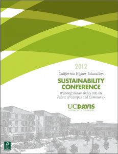 2012 CA Higher Education Sustainability Conference