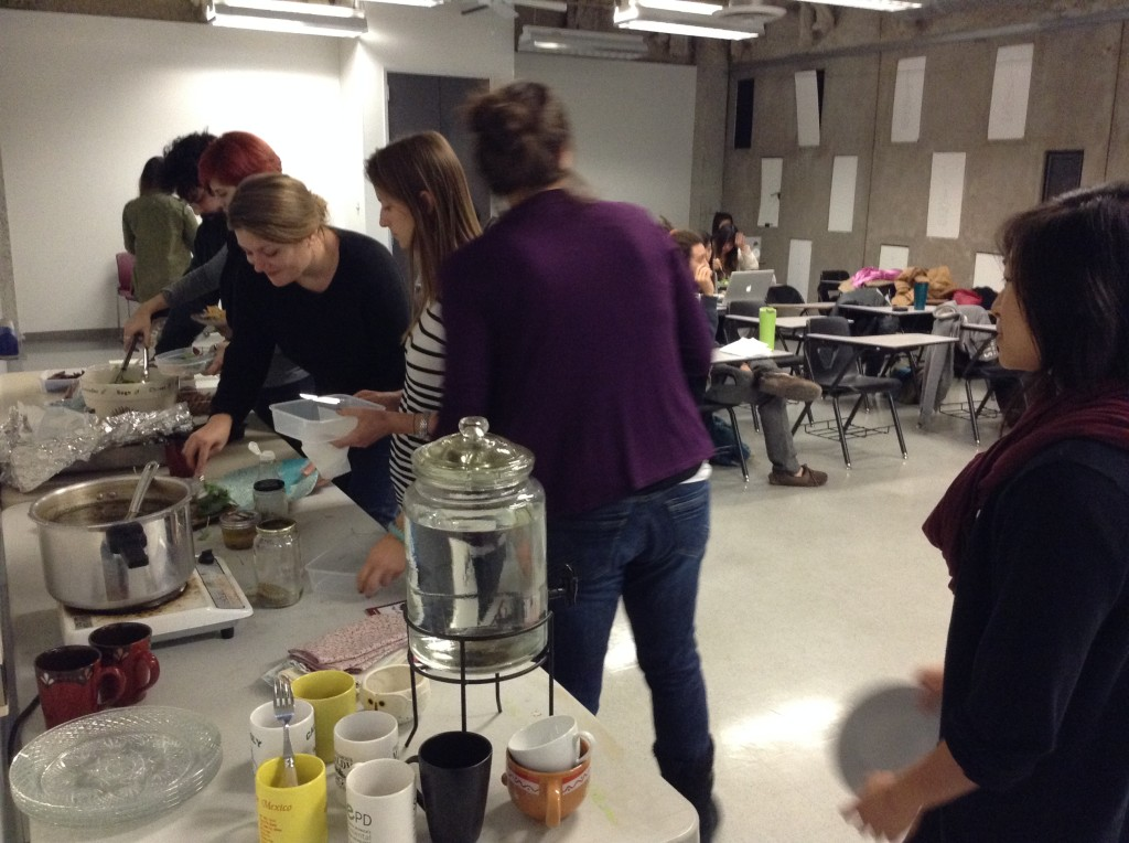 pot luck dinner for Human Ecology class