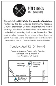 Water Conservation Workshop presented by The Dirty Deeds