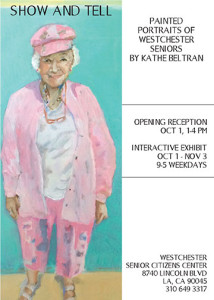 Kathe Beltran, ACT/CE student, exhibition at Westchester Senior Citizen Center