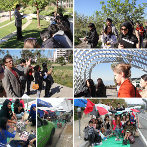 Landscape Technology class toured Tongva Park and participated in PARK(ing) Day 2013!