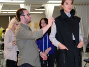 Designer Zaid Affas at model fitting