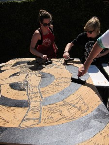 Pictures from 1st annual Steamroller Printmaking Event at Otis