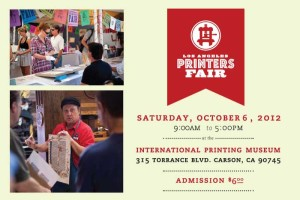 Join Otis Lab Press at the Printer's Fair!