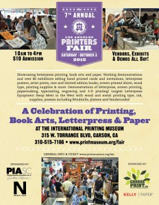 The 7th Annual Los Angeles Printer's Fair