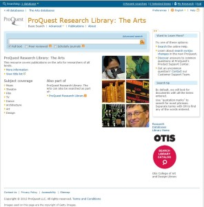 ProQuest Research Library – New Interface and URL