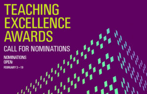 2017 Teaching Excellence Awards – Nominations Open